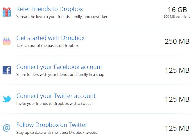 Cách nhận dung lượng miễn phí Dropbox