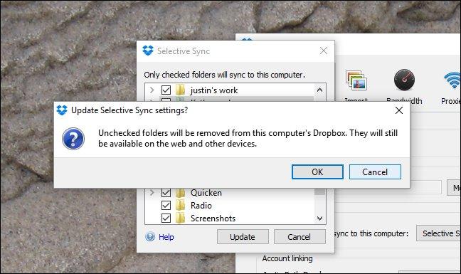 Nhấn Ok để tiếp tục quá trình tải dữ liệu lưu trữ lên Dropbox
